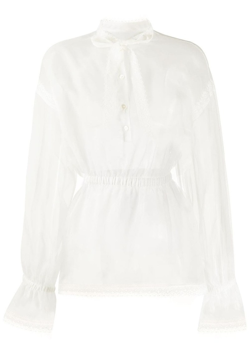 Dolce & Gabbana sheer bow front blouse