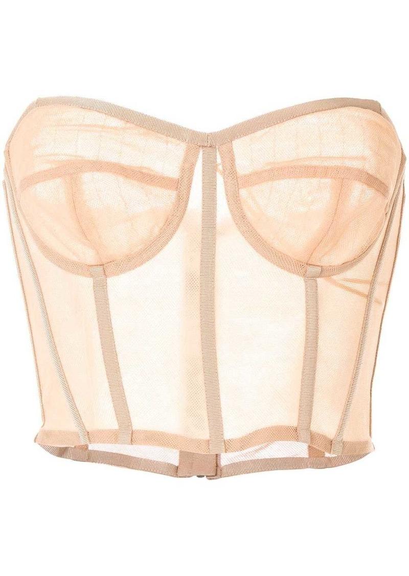 Dolce & Gabbana sheer corset-style top