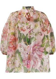 Dolce & Gabbana sheer floral print shirt