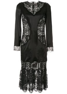 Dolce & Gabbana sheer lace panels dress