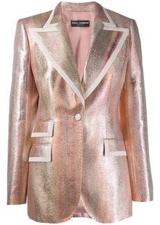 Dolce & Gabbana shimmer tailored jacket
