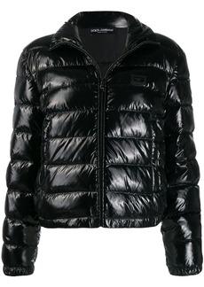 Dolce & Gabbana shiny puffer jacket