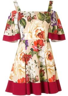 Dolce & Gabbana short floral print charmeuse dress