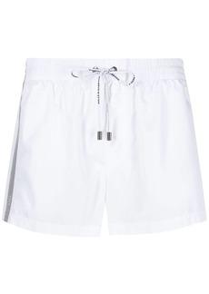 Dolce & Gabbana short swimming shorts with logoed ribbon