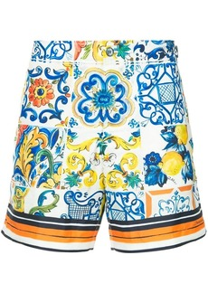 Dolce & Gabbana Sicilian print swim-shorts