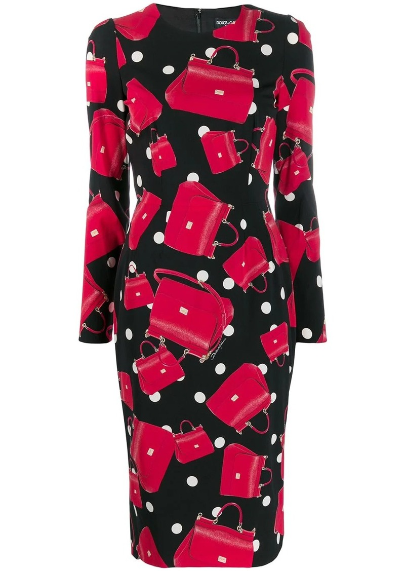 Dolce & Gabbana SIcily bag print dress