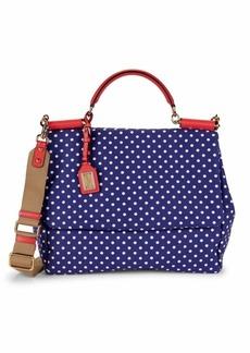 Dolce & Gabbana Sicily Canvas Shoulder Bag
