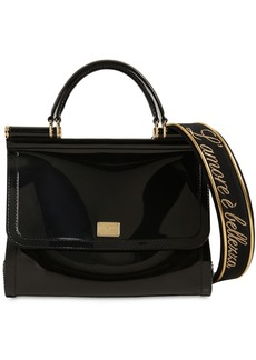 Dolce & Gabbana Sicily Faux Patent Leather Bag