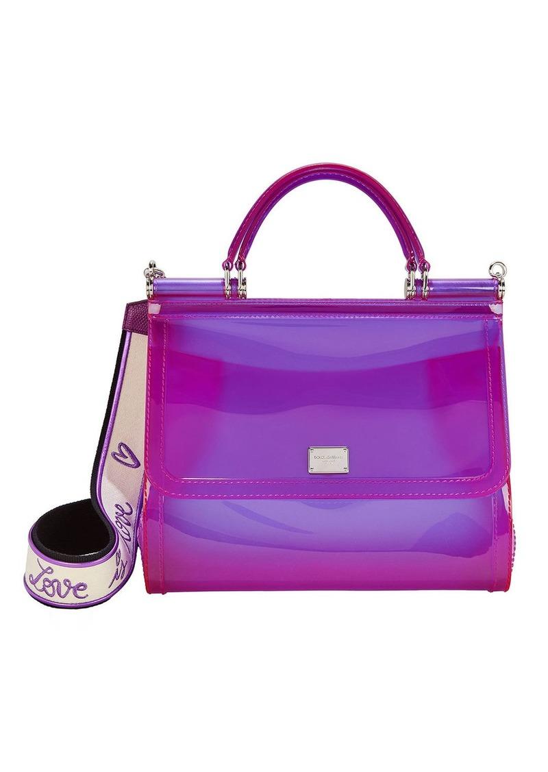 Dolce & Gabbana Sicily Purple Rubber Bag