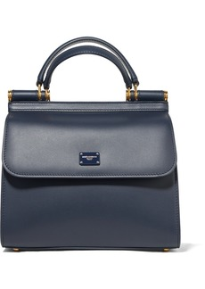 Dolce & Gabbana Sicily Small Textured-leather Tote