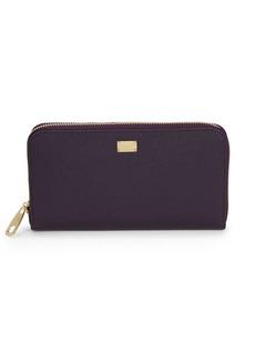 Dolce & Gabbana Sicily Zip-Around Leather Continental Wallet