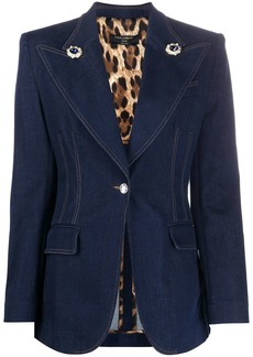 Dolce & Gabbana single-breasted denim blazer