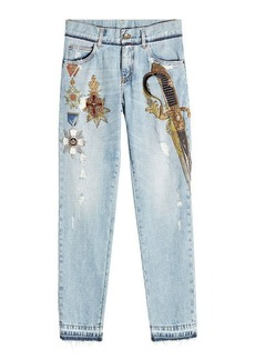 Dolce & Gabbana Skinny Jeans with Embellishment and Embroidery