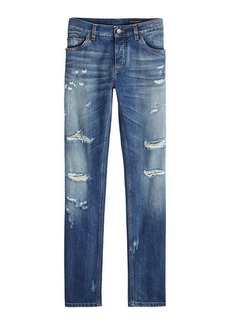Dolce & Gabbana Slim Distressed Jeans