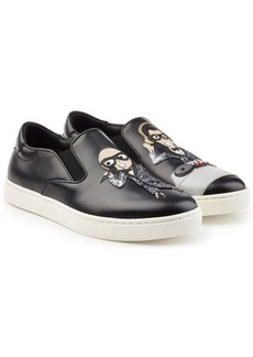 Dolce & Gabbana Slip-On Leather Sneakers