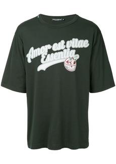 Dolce & Gabbana slogan print short-sleeve T-shirt
