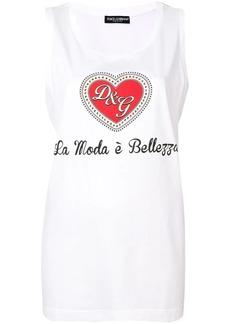 Dolce & Gabbana slogan print tank top