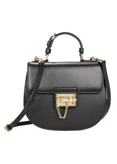 Dolce & Gabbana Small Black Leather Shoulder Bag