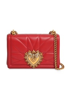 Dolce & Gabbana Small Devotion Quilted Leather Bag