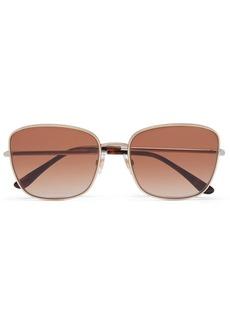 Dolce & Gabbana Square-frame Gold And Silver-tone Sunglasses
