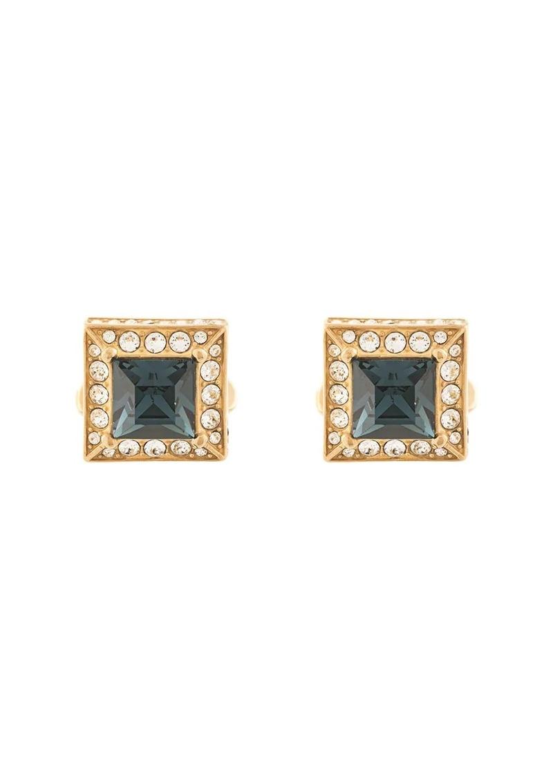Dolce & Gabbana square rhinestone-embellished cufflinks