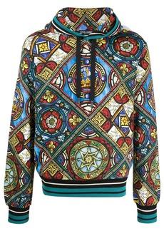 Dolce & Gabbana stained glass window print hoodie