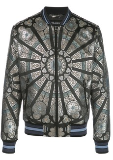 Dolce & Gabbana stained glass window style print bomber jacket
