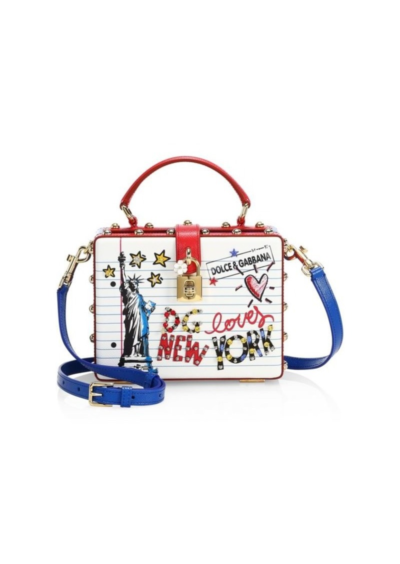 Dolce & Gabbana Statue of Liberty Graphic Leather Crossbody Bag