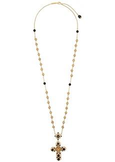 Dolce & Gabbana stone-embellished cross necklace