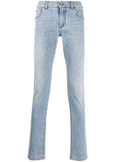 Dolce & Gabbana stonewashed effect straight jeans