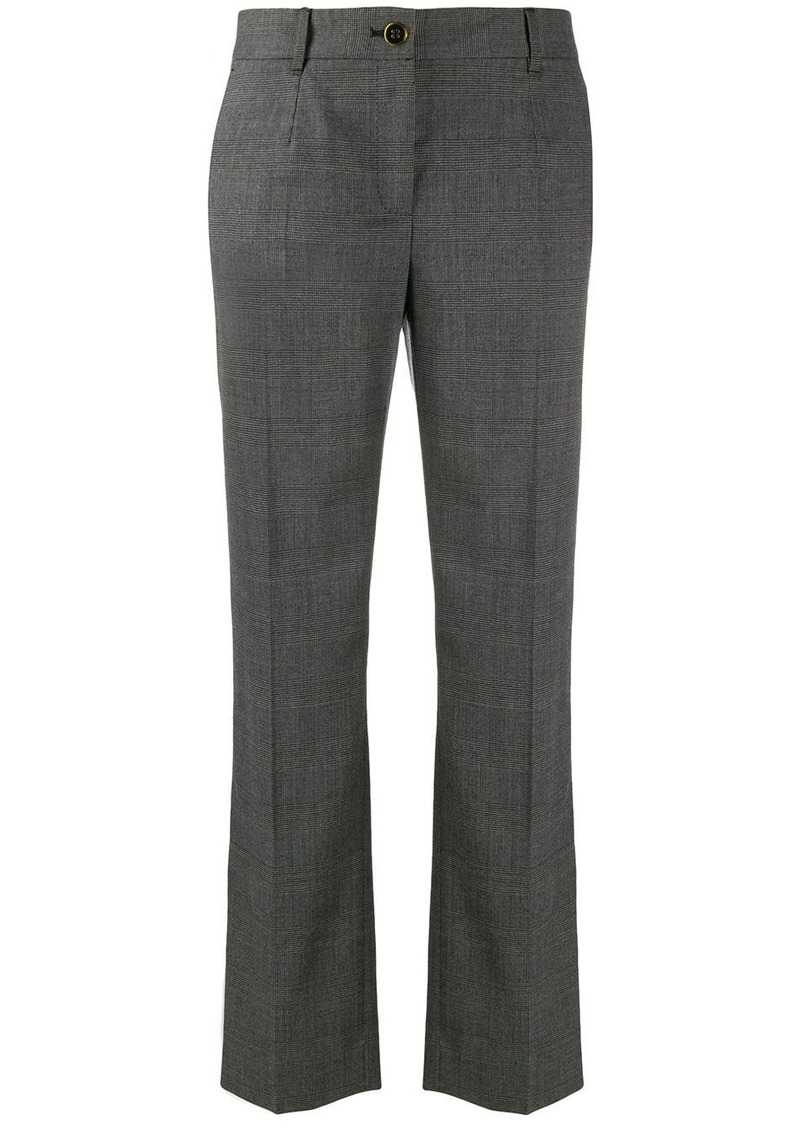 Dolce & Gabbana straight-leg houndstooth trousers