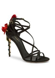 Dolce & Gabbana Strappy Floral Sandals