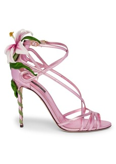 Dolce & Gabbana Strappy Lily Leather Sandals