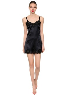 Dolce & Gabbana Stretch Satin & Lace Dress