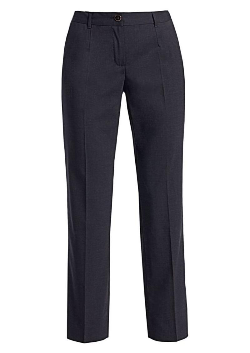 Dolce & Gabbana Stretch Wool Straight Leg Pants