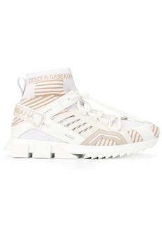 Dolce & Gabbana stripe patterned ridged sneakers