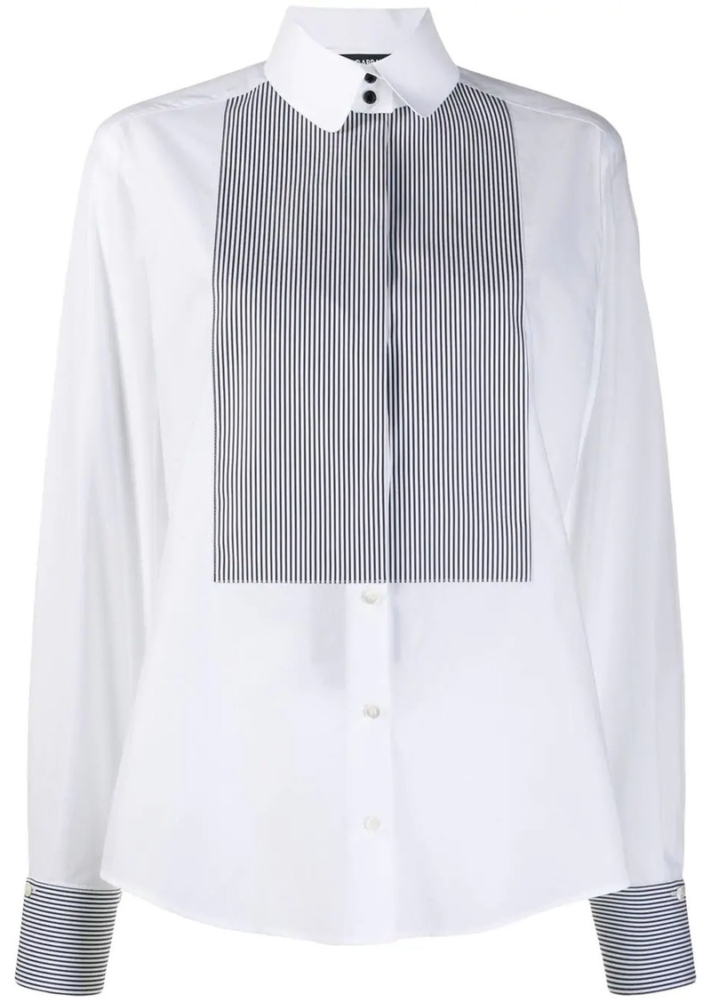 Dolce & Gabbana striped bib long sleeve shirt