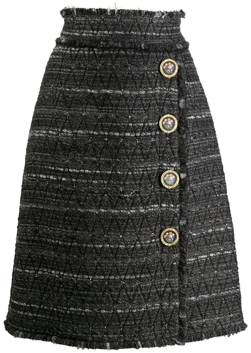 Dolce & Gabbana striped pencil skirt