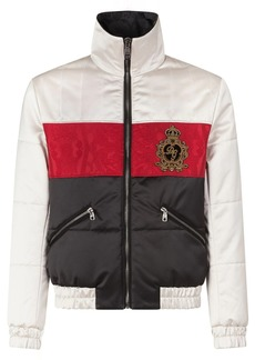 Dolce & Gabbana striped quilted nylon jacket