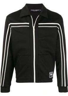 Dolce & Gabbana striped zipped sweatshirt