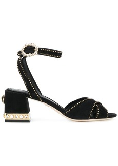 Dolce & Gabbana studded block heel sandals