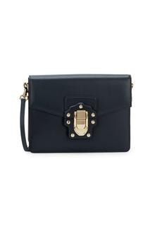 Dolce & Gabbana Studded Box Leather Shoulder Bag