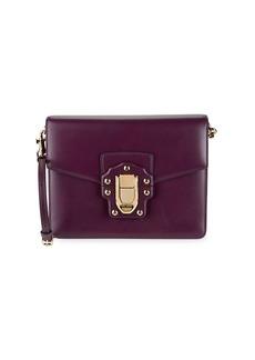 Dolce & Gabbana Studs & Buckle Leather Shoulder Bag