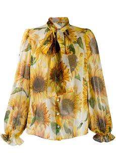 Dolce & Gabbana sunflower print blouse