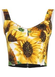 Dolce & Gabbana sunflower print bustier top