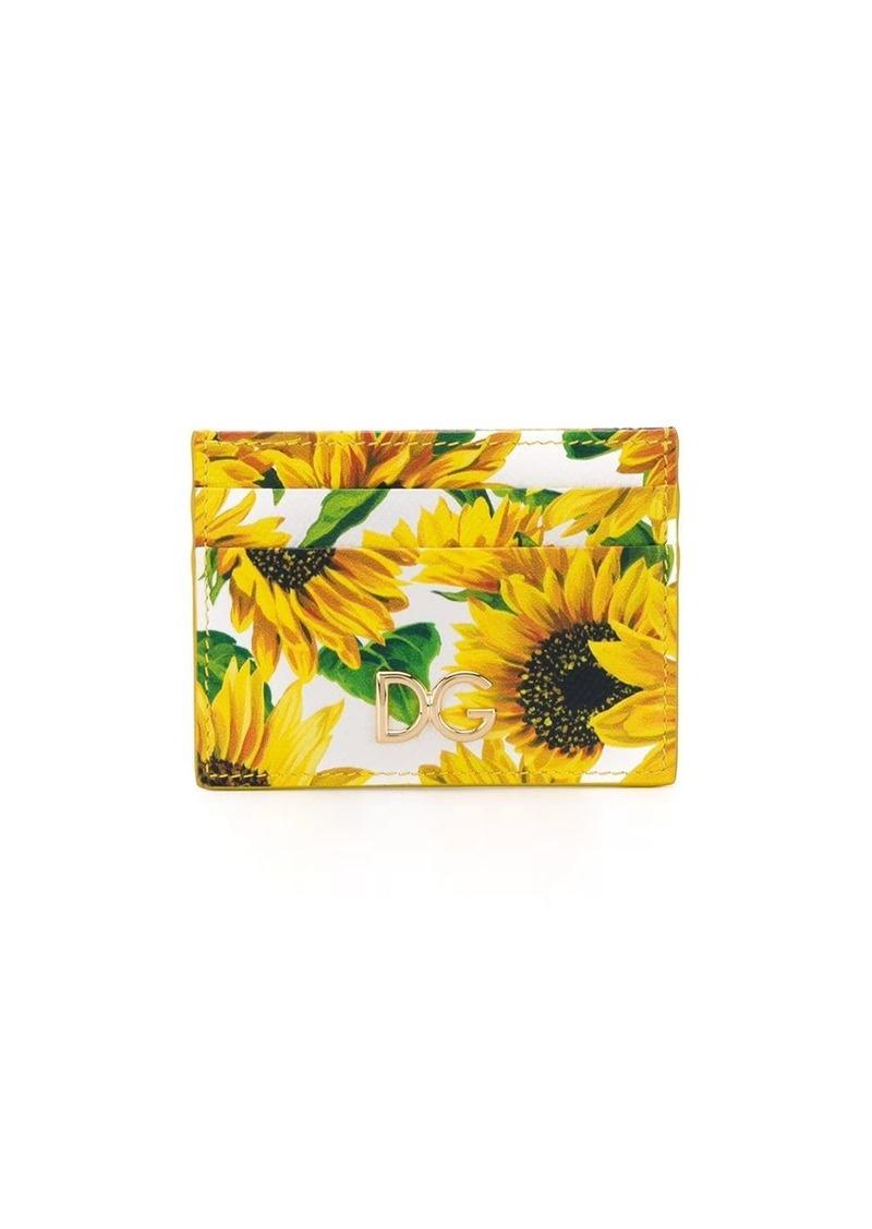 Dolce & Gabbana sunflower print cardholder