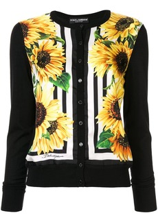 Dolce & Gabbana sunflower-print cardigan