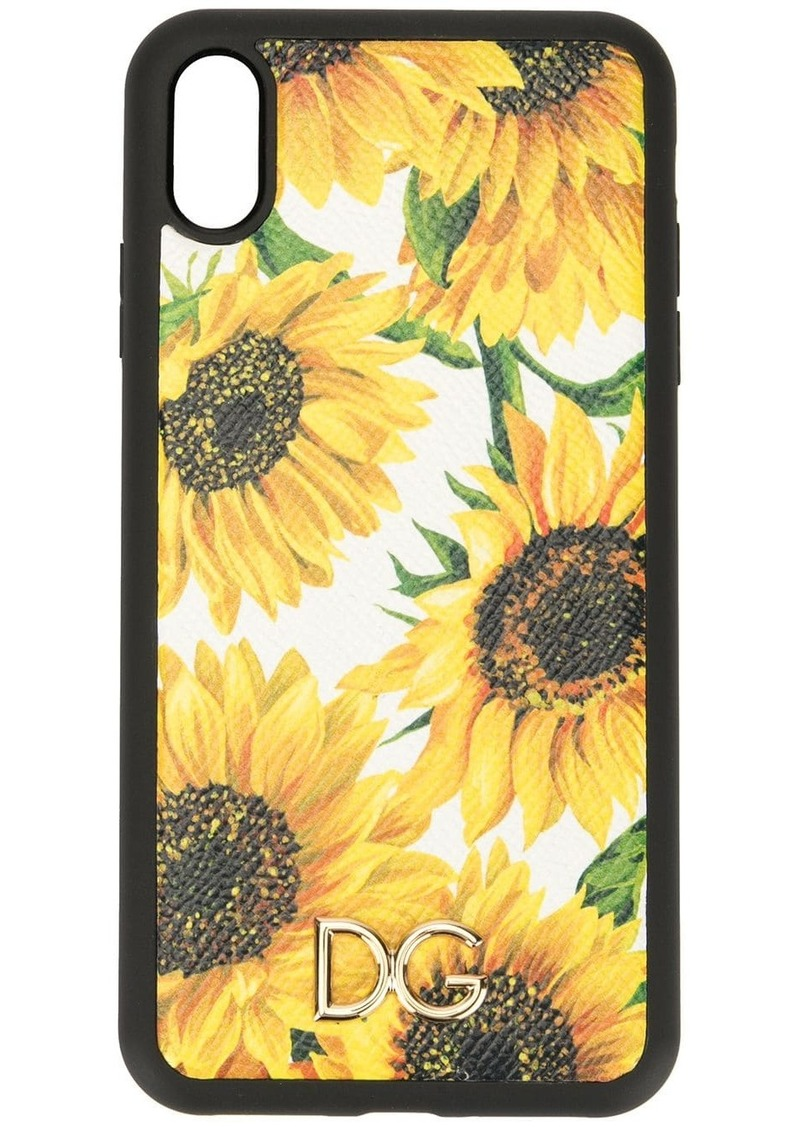 Dolce & Gabbana sunflower print iPhone XS Max case