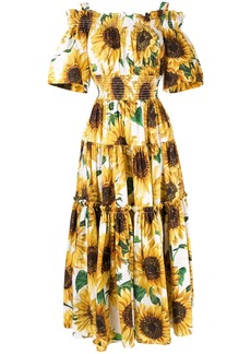Dolce & Gabbana sunflower print long dress