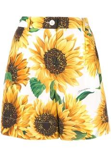 Dolce & Gabbana sunflower print shorts